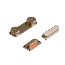 Set de Botões (ON/OFF, Volume e Silencio) iPhone 5S Dourado
