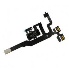 Flex Cable com conector de auriculares, botões de volume e microfone iPhone 4S Preto