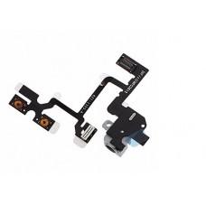 Flex cable com Conector para Auriculares / Audio Jack e Botões de Volume iPhone 4 Branco