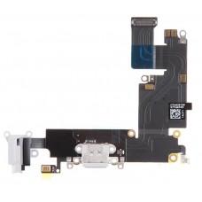 Flex Cable com Conector de Carga, Conector Audio Jack / Auriculares e Microfone para iPhone 6 Plus Branco
