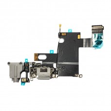 Flex Cable com Conector de Carga, Conector Audio Jack / Auriculares e Microfone para iPhone 6 Cinzento