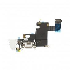 Flex Cable com Conector de Carga, Conector Audio Jack / Auriculares e Microfone para iPhone 6 Branco
