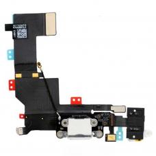 Flex Cable com conector de carga, dados e acessórios, conector jack de 3,5, microfone e cabo RF iPhone 5S Branco