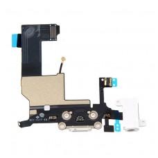 Flex cable com conector de carga, dados e acessórios, conector jack de 3,5, microfone e cabo RF iPhone 5 Branco