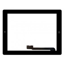 Touchscreen Apple iPad 3 A1416 (Wi-Fi); A1430 (Wi-Fi + Cellular); A1403 (Wi-Fi + Cellular (VZ)) c/ Botão Home - Preto