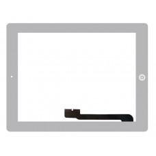 Touchscreen Apple iPad 4 A1458 (Wi-Fi); A1459 (Wi-Fi + Cellular); A1460 (Wi-Fi + Cellular (MM)) c/ Botão Home - Branco